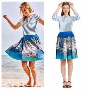 Boden Florence Skirt Circle Seascape Seaside 6
